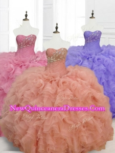 Custom Made Ball Gown Sweetheart Quinceanera Dresses with Beading