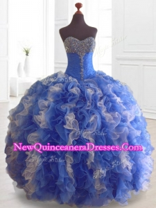 Custom Made Beading and Ruffles Multi Color Quinceanera Dresses