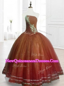 Custom Made Brown Ball Gown Strapless Quinceanera Dresses with Beading
