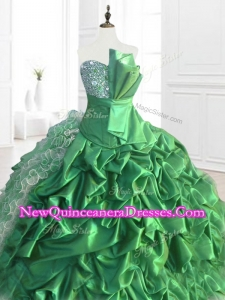 Custom Made Sequins and Ruffles Quinceanera Dresses with Pick Ups