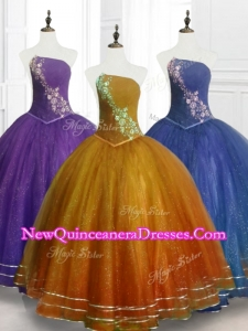 2016 Fast Delivery Ball Gown Strapless Organza Quinceanera Dresses with Beading