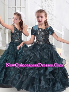 Cute Hot Sale Little Girl Pageant Dresses with Beading and Ruffles