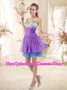Cheap Top Selling Sweetheart Short Sequins Damas Dresses in Multi Color