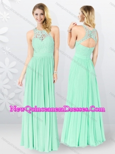 2016 Affordable Empire Appliques Quinceanera Dama Dresses in Apple Green