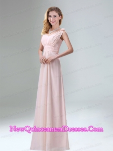 Beautiful Chiffon Dama Dresses in Light Pink for 2015