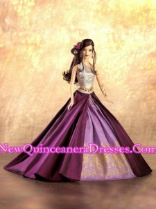 New Fashion Princess Purple Dress Gown for Barbie Doll