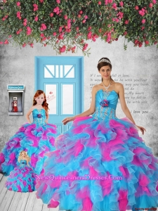 Multi-color Appliques and Ruffles Princesita Dress for 2015 Party