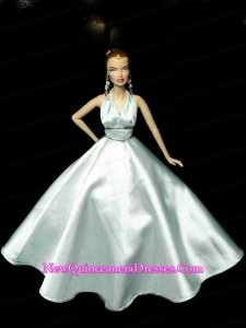 Perfect Party Dress To Barbie Doll Dress With Beading and Light Blue