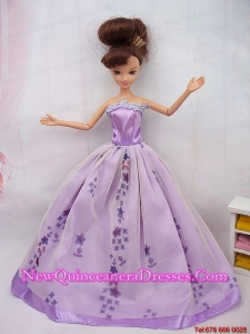 Fashionable Ball Gown Party Clothes Barbie Doll Dress