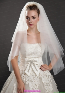 Graceful Two-tier Beautiful Organza Bridal Veil