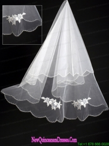 Organza Lace Appliques Bridal / Wedding Veil