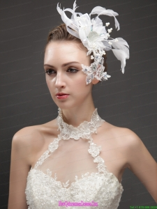 Artistic Feather Fascinators With Crystal Adorned Flower