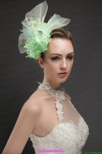 Beautiful Green Tulle Fascinators With Beading And Hand Made Flowers