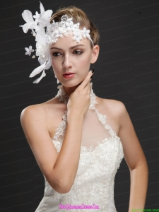 Elegant Feather Beaded Flowers Ribbons Women s Fascinators