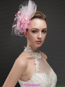 Gorgeous Net With Flowers Ribbons Women s Fascinators