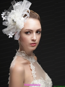 Luxurious Net Women s Fascinators With Hand Made Flowers And Ribbons