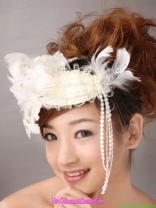 White Feather Wedding and Outdoor Lace Womens Fascinators