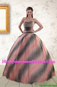 2015 Elegant Multi-color Dress For Quinceanera with Beading