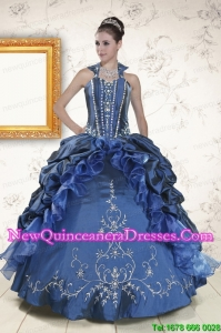 Elegant Sweetheart Navy Blue Quinceanera Dresses with Beading
