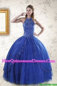 Beautiful Royal Blue Quinceanera Dresses with Appliques and Beading