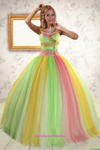 Custom Made Ball Gown Sweet 16 Dresses in Multi Color for 2015
