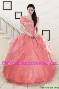 Custom Made Beaded Ball Gown Sweetheart Quinceanera Dresses