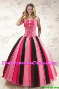 Custom Made Multi-color Quinceanera Dresses with Beading for 2015