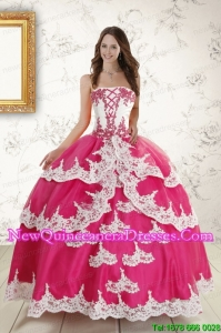 Top Seller Beading and Ruffles Sweet 15 Dresses in Hot Pink