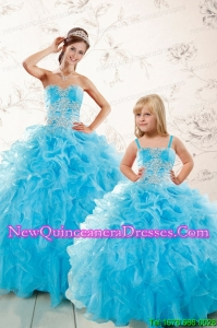 Aqua Blue Ball Gown Sweetheart Beading Princesita Dresses