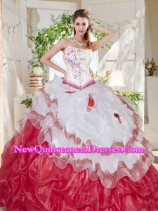Perfect Big Puffy Bubble Beaded and Ruffled Quinceanera Dress with Asymmetrical Neckline