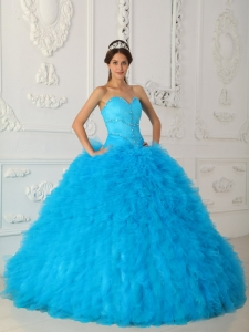Discount Quinceanera Dress Sweetheart Satin and Organza Beading Ball Gown