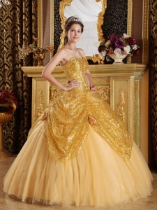Sequin Dress on Sequined Quinceanera Dresses  Cheap Sequined Fabric Quince Ball Gowns