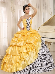 Popular Multi-color Pick-ups Strapless 2015 Quinceanera Dress In Santiago del Estero