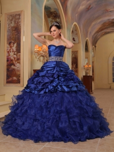 Quinceanera Dress Sweetheart Organza and Taffeta Beading Ball Gown