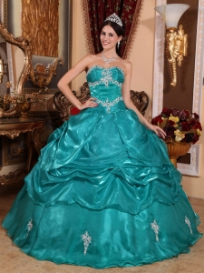 Brand New Quinceanera Dress Strapless Organza Appliques Ball Gown