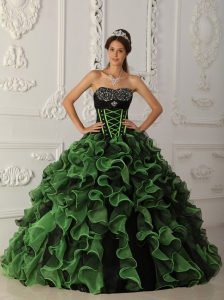 Sweet Quinceanera Dress Sweetheart Organza Beading Ball Gown