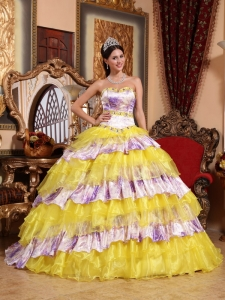 Inexpensive Multi-color Quinceanera Dress Sweetheart Organza Beading and  Ruffles Ball Gown 0d9d0dca97bf