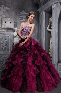 Best Fuchsia and Black Quinceanera Dress Zebra Print and Ruffles and Beading Ball Gown