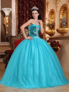Popular Quinceanera Dress Sweetheart Tulle Beading Ball Gown