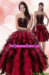 Red And Black Quinceanera Dresses, Cheap Quinceanera Gowns in Red ...
