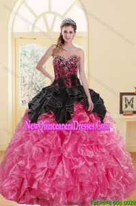 2015 Top Seller Beading and Ruffles Sweet 16 Dresses in Multi Color