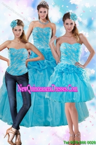 Top Seller and Sophisticated Teal Quince Dresses with Embroidery and Pick Ups