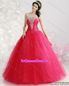 2015 Brand New Strapless 2015 Quinceanera Gowns with Rhinestones