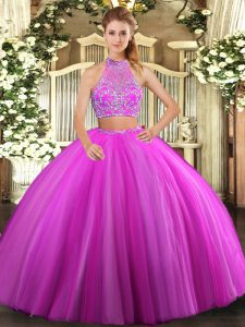 Sleeveless Beading Criss Cross Quinceanera Gowns