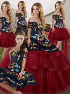 aa804dcca6 Glamorous Ball Gowns Sleeveless Wine Red Sweet 16 Quinceanera Dress Brush Train  Lace Up