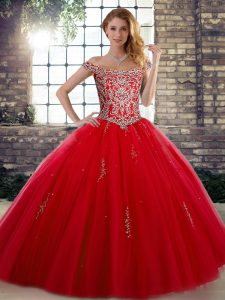 Designer Tulle Sleeveless Floor Length Quinceanera Dress and Beading