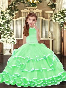 Floor Length Ball Gowns Sleeveless Pageant Gowns For Girls Backless