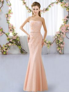 Sleeveless Beading Lace Up Quinceanera Court Dresses
