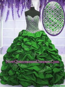 Super Sleeveless Lace Up Floor Length Beading and Sequins and Pick Ups 15th Birthday Dress