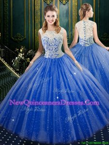 Popular Sleeveless Lace Zipper Ball Gown Prom Dress